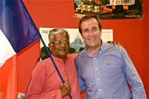 v soirée indienne avec le maire de Collioure